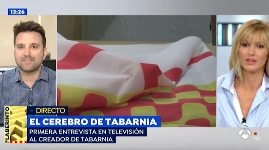 El creador de Tabarnia, Daniel de la Fuente, aparece por primera vez en televisión