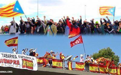Varios tabarneses son agredidos al tratar de colgar una bandera de Tabarnia