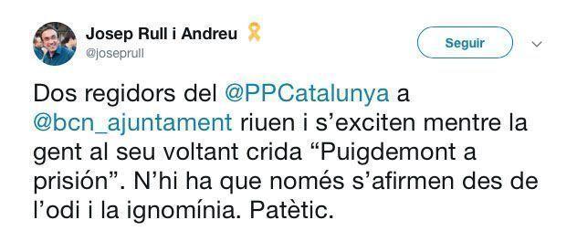 Tuit de Josep Rull sobre Tabarnia.