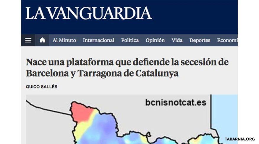 Tabarnia es noticia en La Vanguardia.