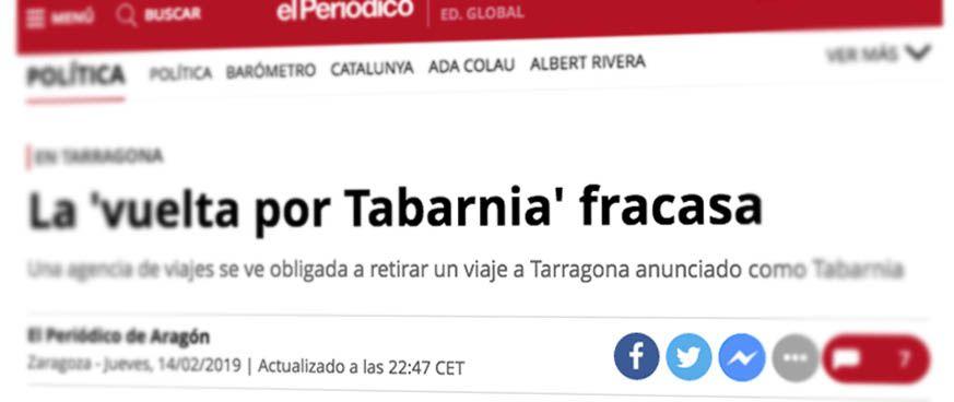Artículo de El Periódico edición Cataluña.