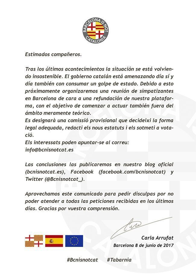 Carta de Tabarnia.